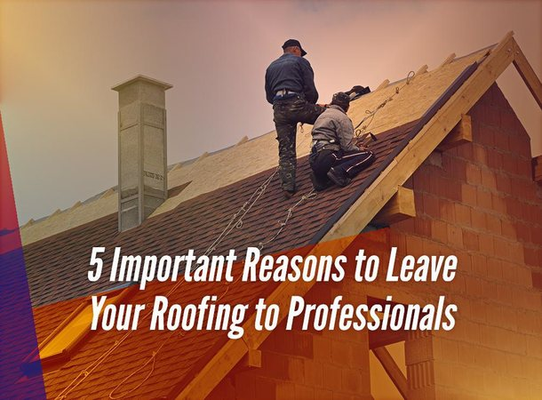 5 Important Reasons to Leave Your Roofing to Professionals